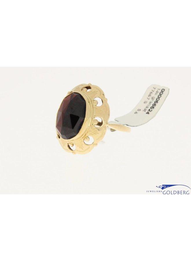 vintage 14k gouden ring granaat