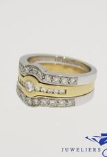 Bicolor gouden Promises ring combinatie 0.68ct diamant
