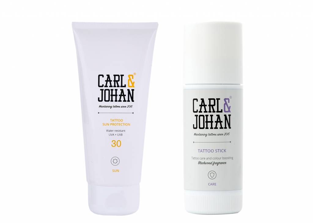 PROMO PACK 2: C&J Tattoo Stick 40 ml + C&J Sun Protection 100 ml