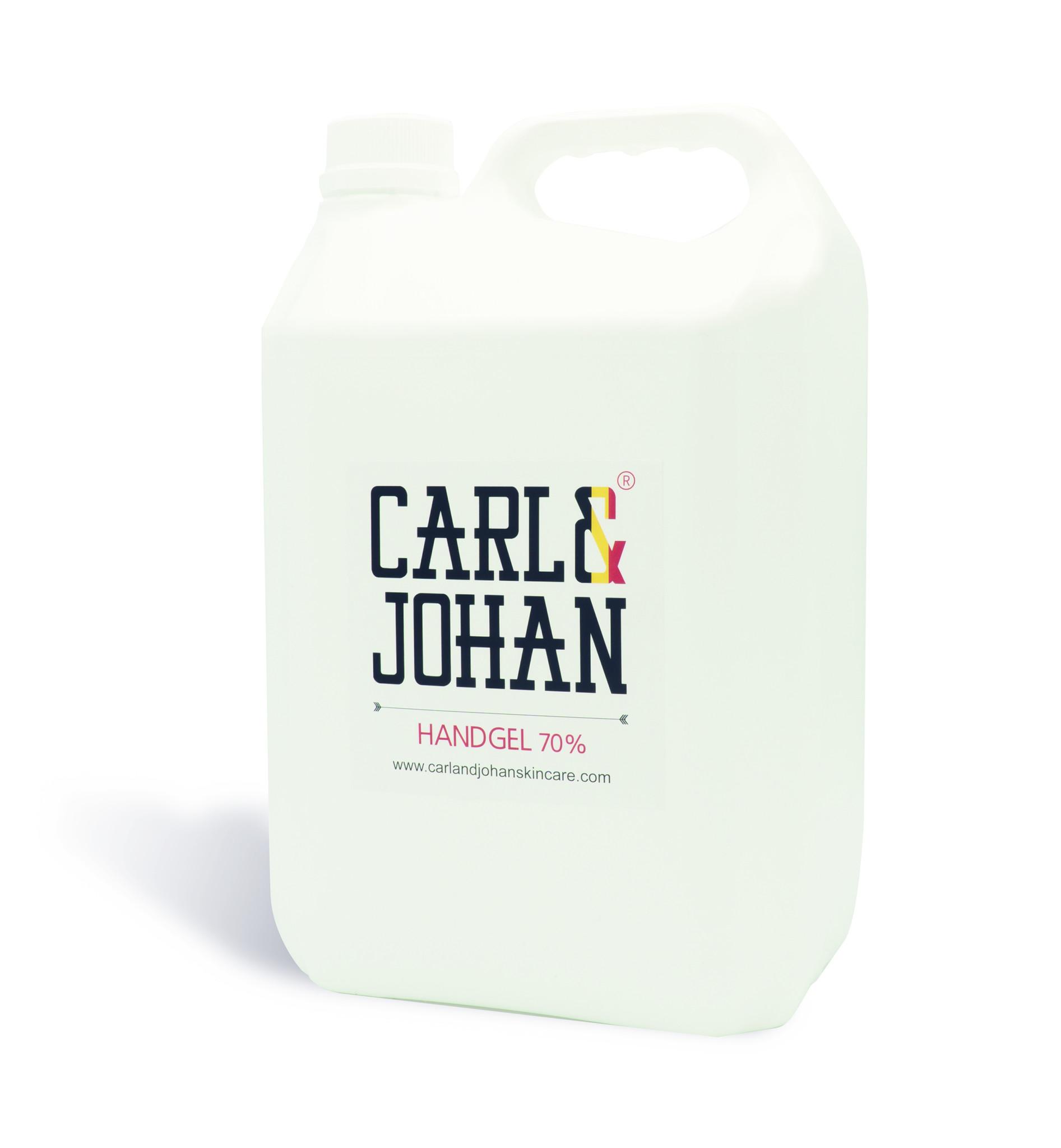 C&J Handgel 5 liter 70% alcohol antibacterieel en ontsmettend