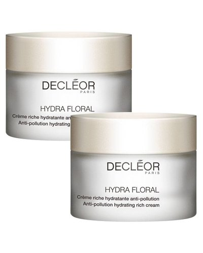 Decléor Hydra Floral Anti-Pollution Hydrating Rich Cream Duo