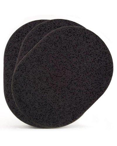 Dehcos Cleansing Sponge (Black) Three-Pack