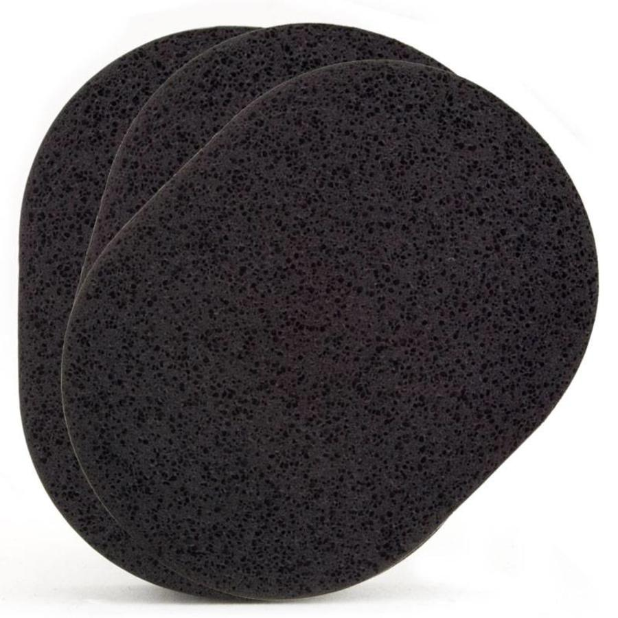 Reinigingsspons (Zwart) 3-pak