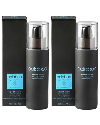 Oolaboo Oolaboo Wipe Off 3 in 1 Daily Nutrition Cleansing Nectar Duo