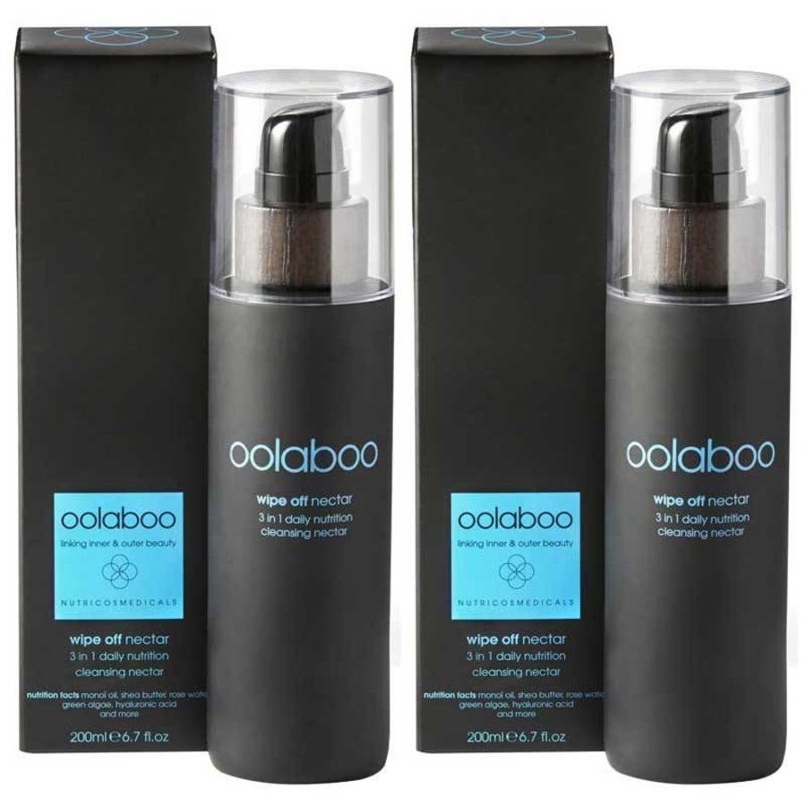 Oolaboo Wipe Off 3 in 1 Daily Nutrition Cleansing Nectar Duo