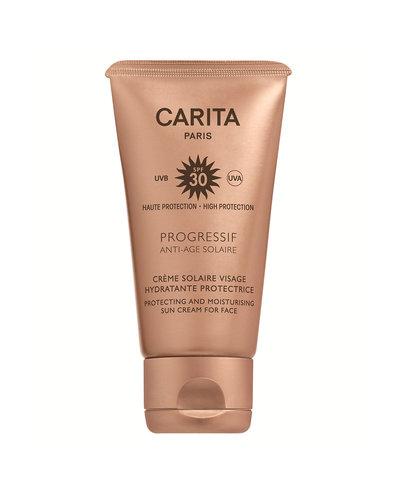 Carita Progressif Anti-Age Solaire Crème Solaire Visage Hydratante Protectrice SPF30 50ml