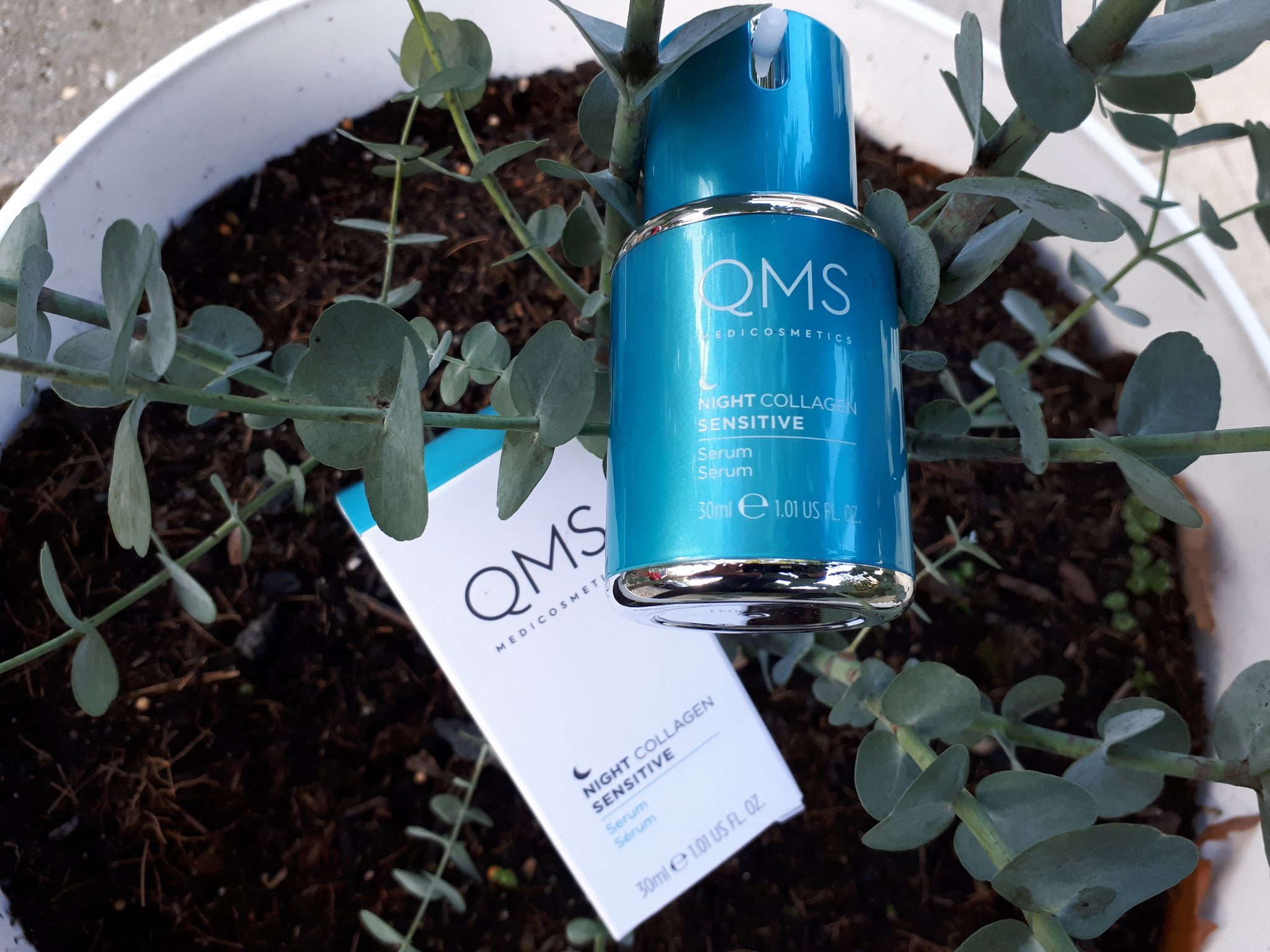 Review QMS Night Collagen Sensitive Serum