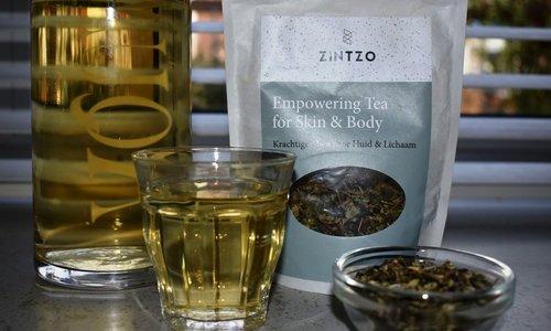 Review Zintzo Empowering Tea for Skin & Body