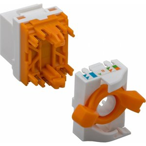 CAT 6 KeyStone RJ45 Jack UTP oranje Toolless