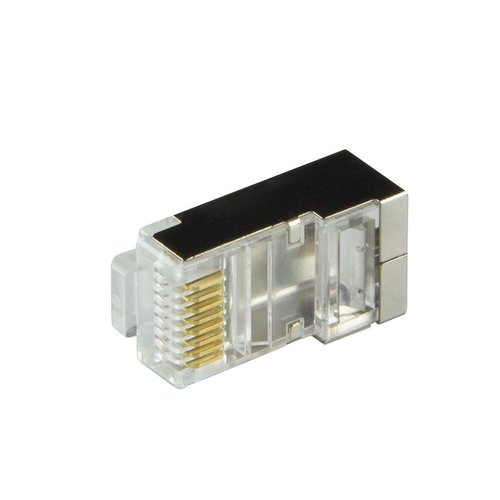 CAT6 Plug with strain relief boot RJ45 - Shielded 10 pcs