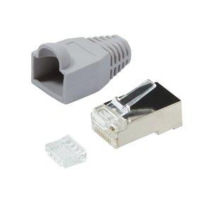 CAT6 Connector met tule RJ45 - STP 10 stuks voor soepele kabel