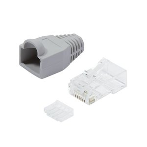 CAT6 Plug with strain relief boot RJ45 - Unshielded 100 pcs