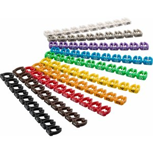 Cable marker clips Digits 0–9 for cable diameters up to 6 mm