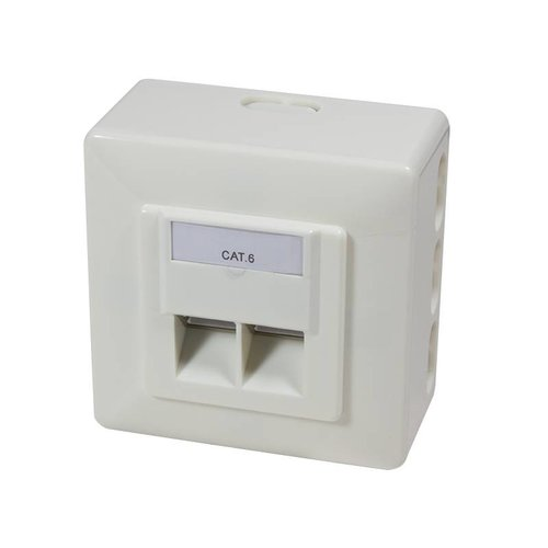 Cat6 Surface Mounted Box Fully Shielded RAL 9010
