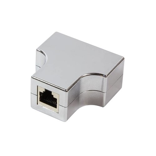 CAT5e T-adapter 1 x RJ45 to 2 x RJ45