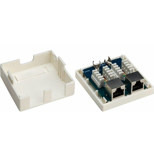 Cat6 Wall Outlet 2x RJ45 STP