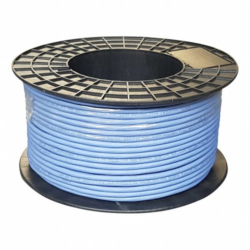 UTP CAT6a netwerk kabel stug 100M 100% koper blauw