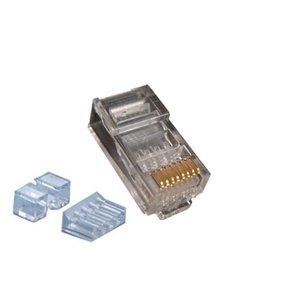 CAT6a Connector met hulpstuk RJ45 - UTP 10 stuks voor soepele en stugge kabel
