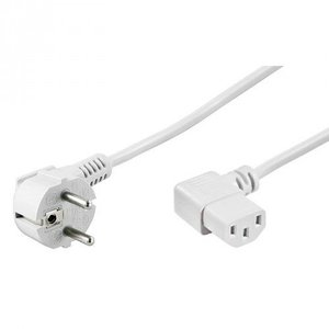 Powercable CEE 7/7 hooked (male) naar C13 hooked (female) 2.0 m