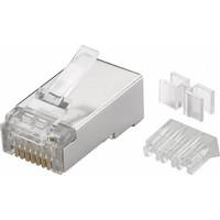 CAT6a Connector met hulpstuk RJ45 - STP 10 stuks voor soepele en stugge kabel