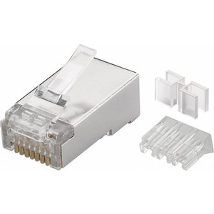 CAT6a STP Modular Plug RJ45 Stranded With Threader