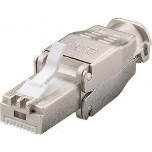 CAT6a Toolless Connector RJ45 - STP voor soepele en stugge kabel