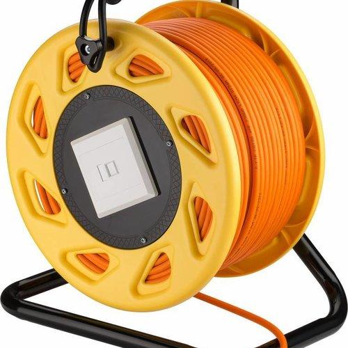 Cat6a kabel op haspel