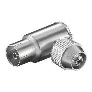 Coaxial angled socket female 9,5mm metal