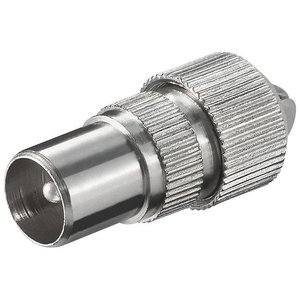 COAX plug 9.5 mm metal