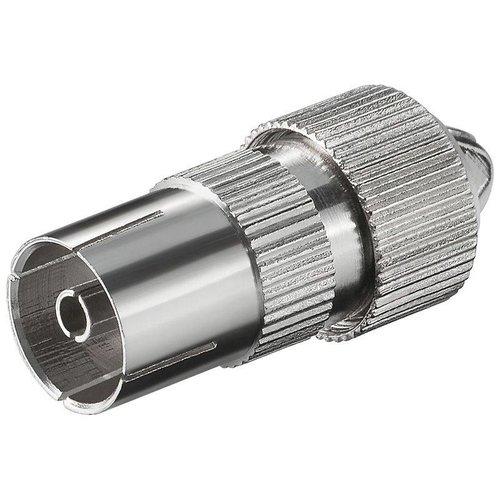 COAX jack 9,5 mm metaal