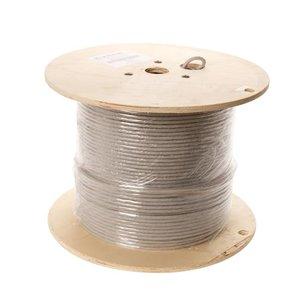 U/FTP CAT6a stug 500M 100% koper grijs (netwerkkabel op rol)