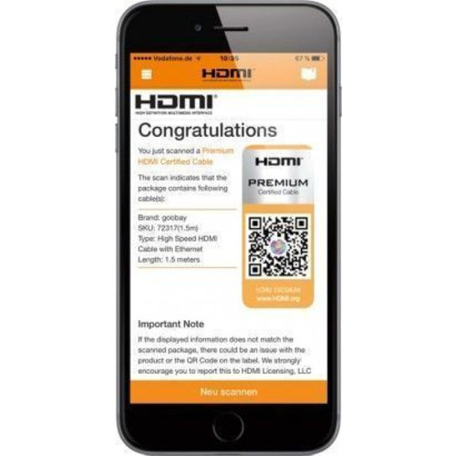 Premium High Speed HDMI ™ -kabel met ethernet verguld 5M