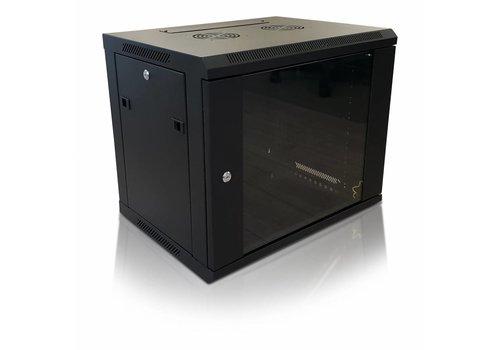 Bintra 12U wall patch cabinet with glass door 600x450x635 (WxDxH)
