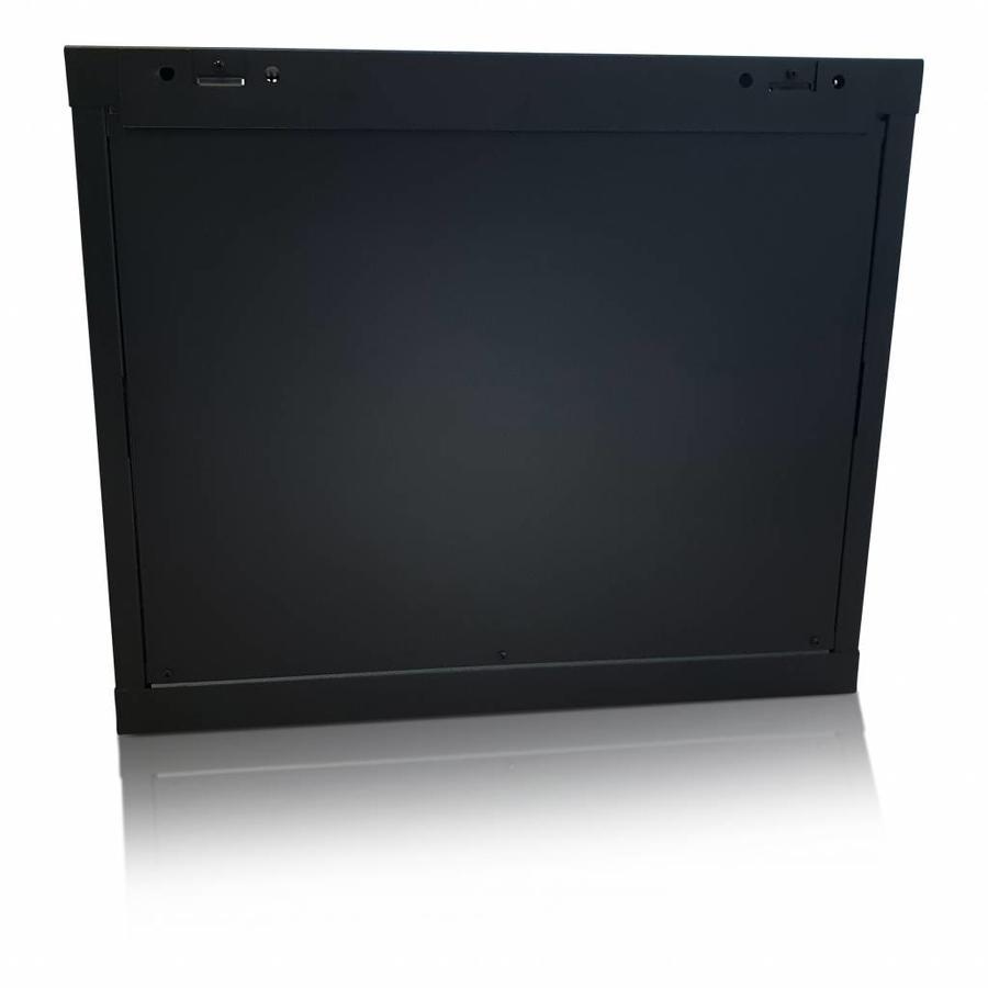 12U wandkast met glazen deur 600x450x635mm (BxDxH)