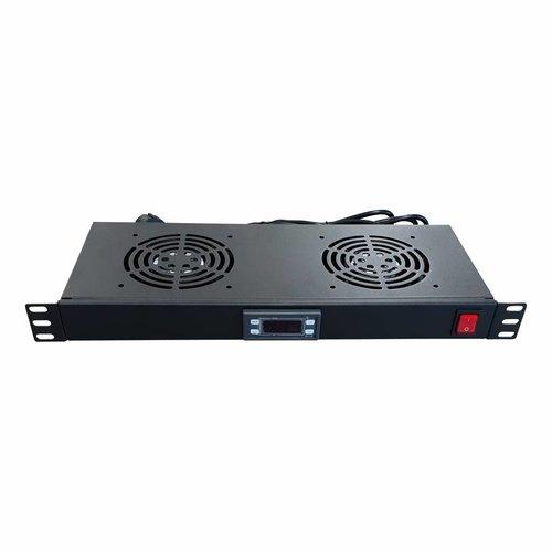 Bintra 1U Fan pakket met 2 ventilatoren incl. digitale thermostaat
