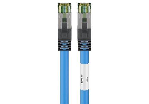 CAT8.1 S/FTP PIMF LSZH 0.5M Blue