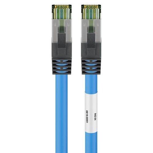 CAT8.1 S/FTP PIMF LSZH 0.5M Blauw