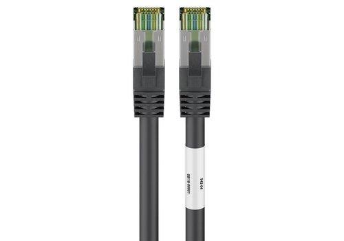CAT8.1 S/FTP PIMF LSZH 0.5M Black