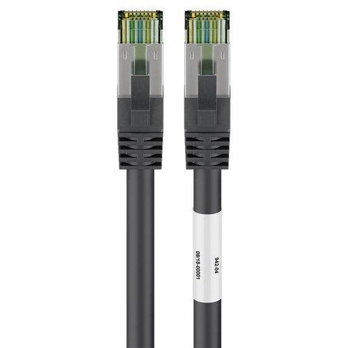 CAT8.1 S/FTP PIMF LSZH 0.5M Zwart