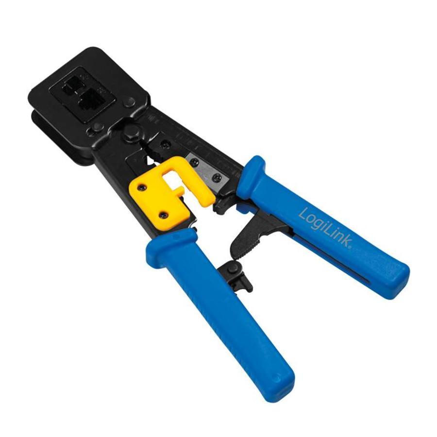 Krimptang voor RJ11, RJ12 en RJ45 connectoren, met kabelsnijder