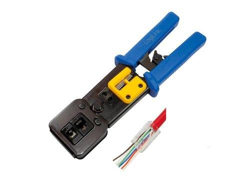 Krimptang voor RJ11, RJ12 en RJ45 connectoren