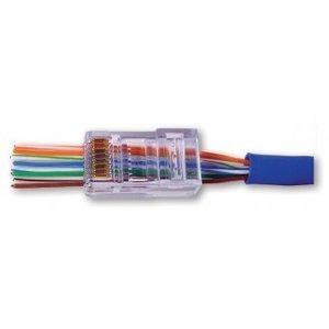 Doorsteek CAT5e Connector RJ45 - UTP 50 stuks voor soepele en stugge kabel