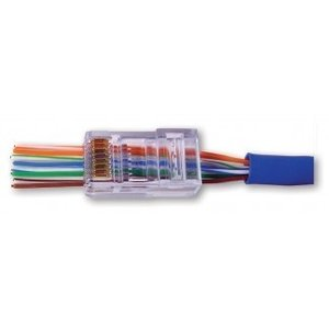 Push-through CAT5e Connector RJ45 - UTP 50 pieces for flexible and rigid cable