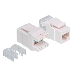 CAT5e keystone RJ45 unshielded white ° 180