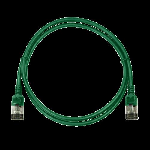 CAT6a U/FTP Ultraflex, 100% koper, groen, 0.2M