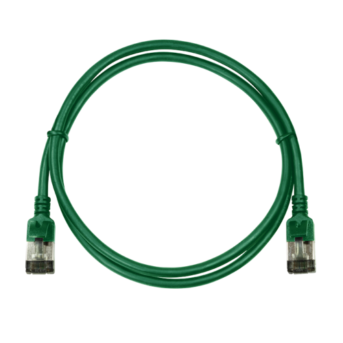 CAT6a U/FTP Ultraflex, 100% koper, groen, 0.3M