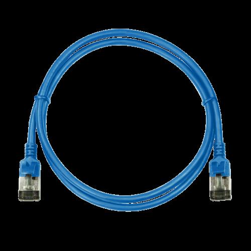 CAT6a U/FTP Ultraflex, 100% koper, blauw, 0.5M