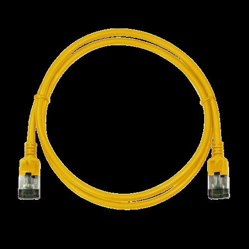 CAT6a U/FTP Ultraflex, 100% koper, geel, 0.5M