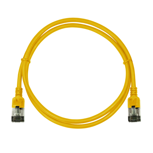 CAT6a U/FTP Ultraflex, 100% koper, geel, 2M