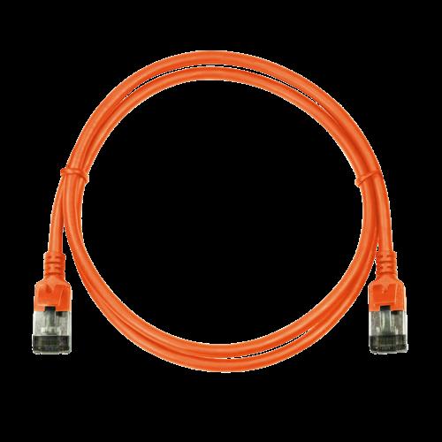 CAT6a U/FTP Ultraflex, 100% koper, oranje, 0.2M